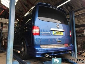 VW Transporter T5 Exhaust Stainless Steel Middle And Rear Twin Tailpipes (1)