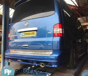 VW Transporter T5 Exhaust Stainless Steel Middle And Rear Twin Tailpipes (2)