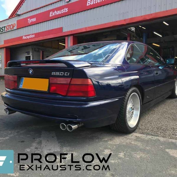 Proflow Custom Built Stainless Steel Exhaust For BMW 8 Series Mid And Rear With Centre Box Delete With TX199 Tailpipes (2)