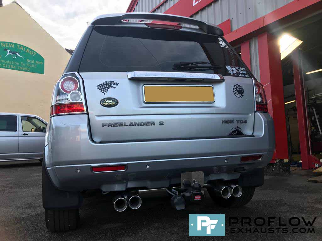Proflow Stainless Steel Dual Exit Custom Exhaust Freelander 2 (3)