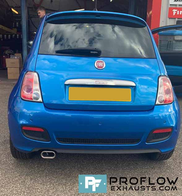 Proflow Exhausts Back Box Delete Fiat 500 with Stainless Steel Tailpipe