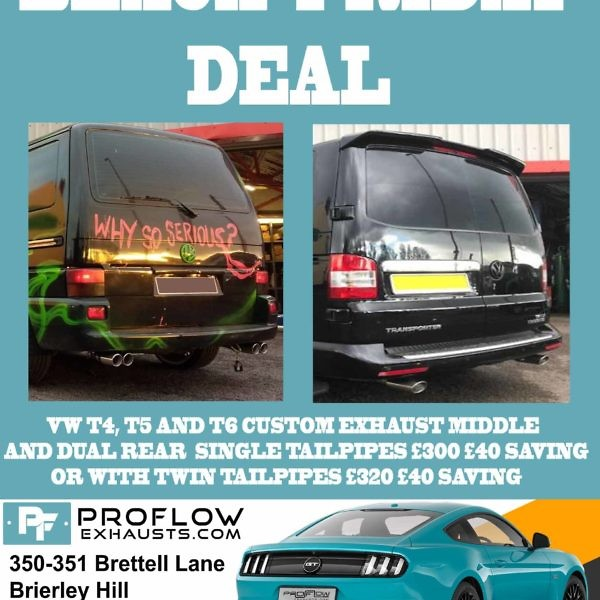 BLACK FRIDAY SALE VW Transporter T4, T5, T5.1 and T6 Custom Exhaust!