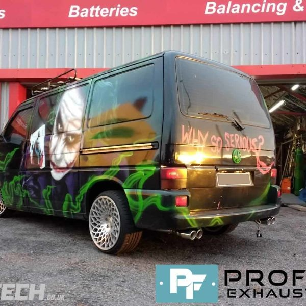 Proflow Exhausts Middle and Dual Rear for VW Transporter T4