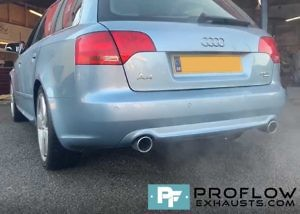 Proflow Audi A4 Custom Exhaust Stainless Steel Middle And Dual Rear (2)