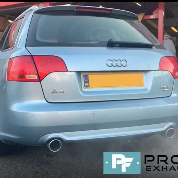 Proflow Audi A4 Custom Exhaust Stainless Steel Middle And Dual Rear (3)