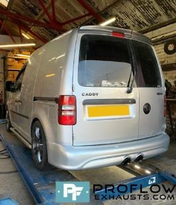Proflow Exhausts VW Caddy Van Custom Back Box with Twin Tailpipe