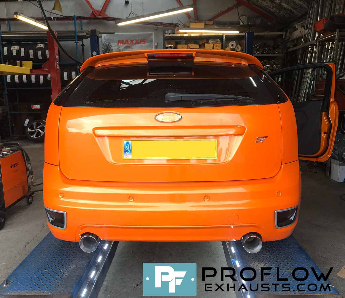 Proflow Exhausts Back Box Delete Dual Rear for Ford Focus ST