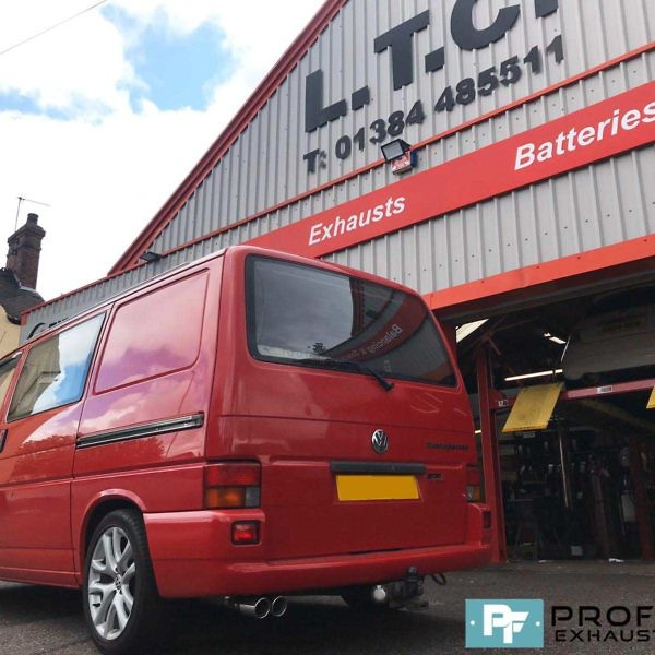 Proflow Custom built Exhaust for VW T4 Transporter Middle and Single Exit Rear