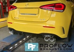 Proflow Exhausts Mercedes A Class AMG Back Box Delete Stainless Steel Custom Built (5)