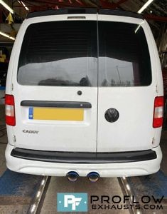 VW Caddy R32 Bumper Rear Exhaust Custom Built By Proflow Exhausts (3)