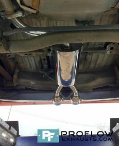 VW Caddy R32 Bumper Rear Exhaust Custom Built By Proflow Exhausts (4)