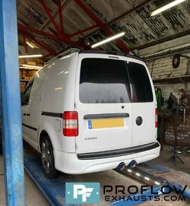VW Caddy R32 Bumper Rear Exhaust Custom Built By Proflow Exhausts (5)