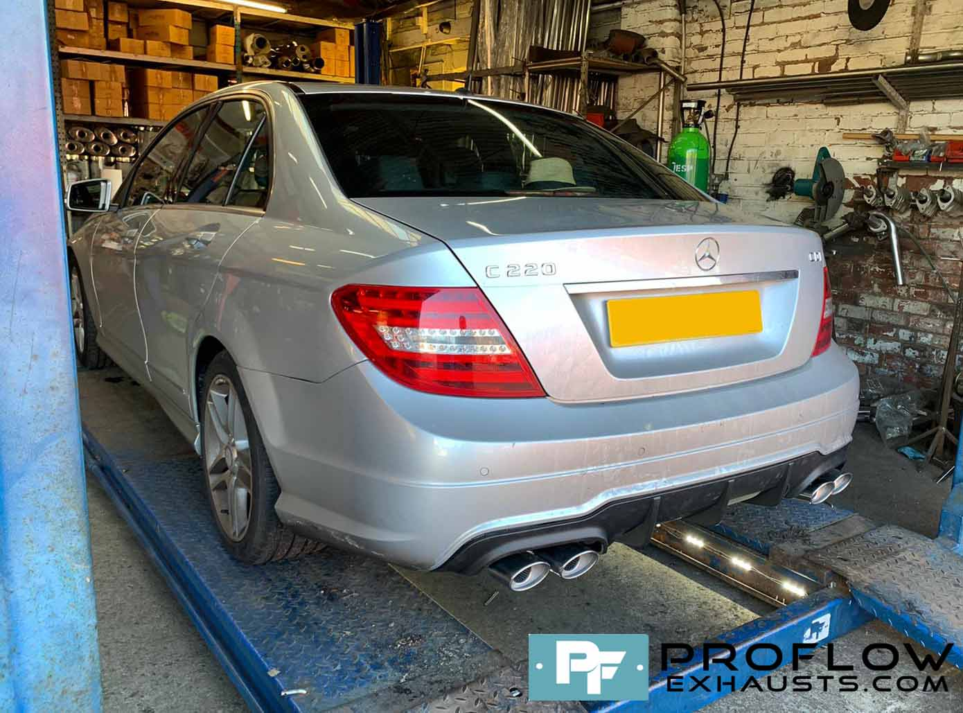 Proflow Custom Built Exhaust Stainless Steel for Mercedes C220