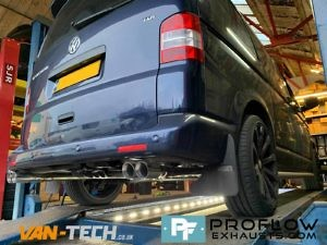 Proflow Custom Built Exhaust VW T5.1 Transporter Middle and Dual Rear