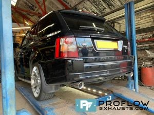Range Rover Sport Custom Stainless Steel Exhaust Middle and Rear TX074 Tailpipes