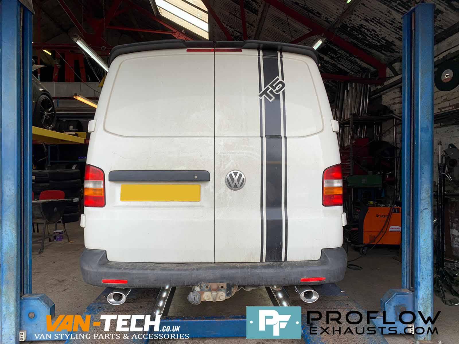 Vw Transporter T5 Custom Built Exhaust Proflow Stainless Steel (1)