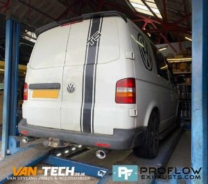 Vw Transporter T5 Custom Built Exhaust Proflow Stainless Steel (2)
