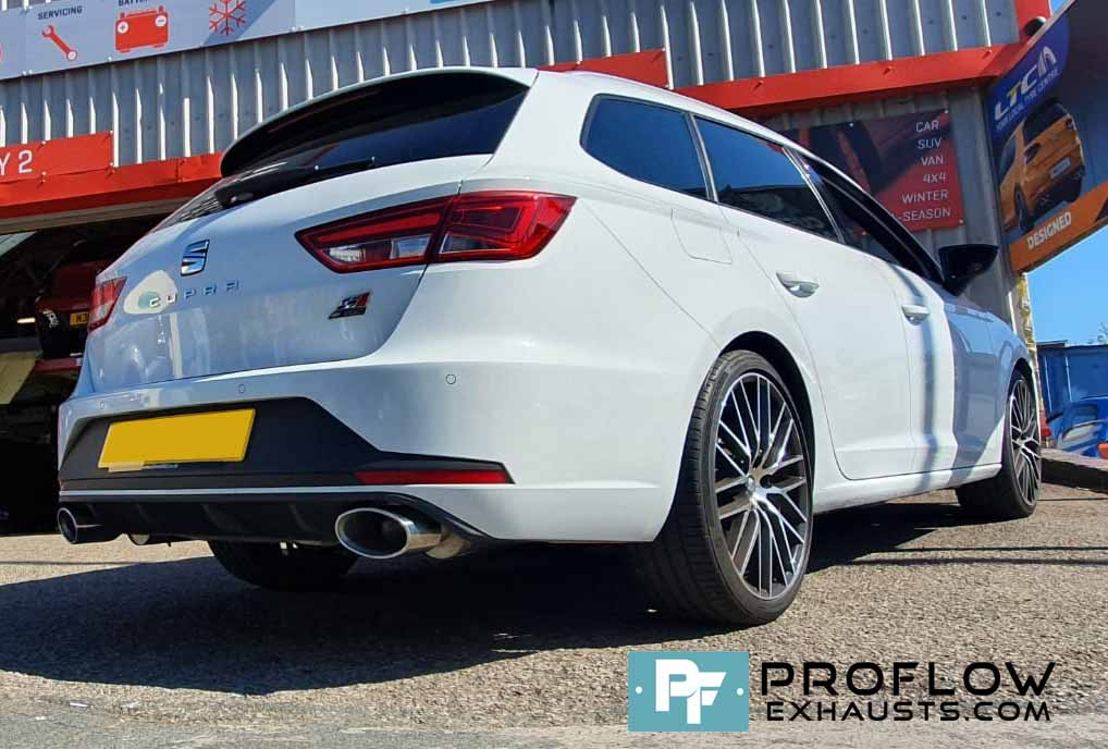 Proflow Custom Built Stainless Steel Dual Back Boxes Seat Cupra Exhaust (2)