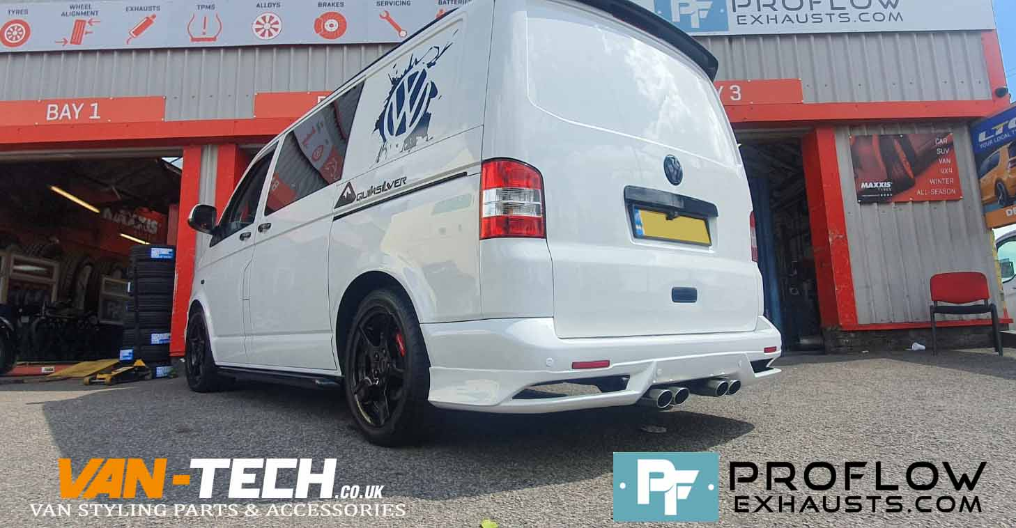 Proflow Custom VW T5.1 Transporter Dual Middle Exhaust (1)