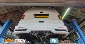 Proflow Custom VW T5.1 Transporter Dual Middle Exhaust (9)