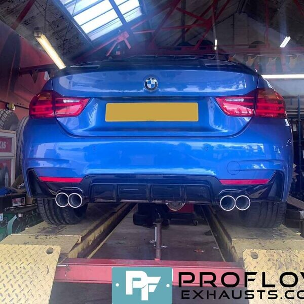Custom Exhaust Back Box Delete With Dual Twin Tailpipes Made From Stainless Steel For BMW 4 Series (3)
