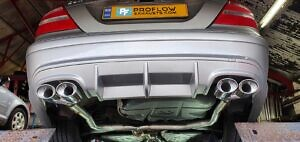 Mercedes CLK Custom Exhaust Dual Exit Built From Stainless Steel (1)
