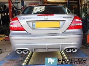 Mercedes CLK Custom Exhaust Dual Exit Built From Stainless Steel (2)