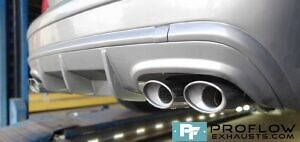 Mercedes CLK Custom Exhaust Dual Exit Built From Stainless Steel (4)