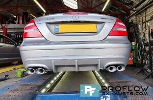 Mercedes CLK Custom Exhaust Dual Exit Built From Stainless Steel (6)