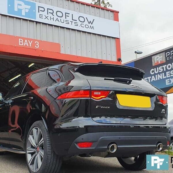 Proflow Custom Exhaust Jaguar F Pace Single To Dual Exit Conversion For Made From Stainless Steel 50mm Pipewor (3)