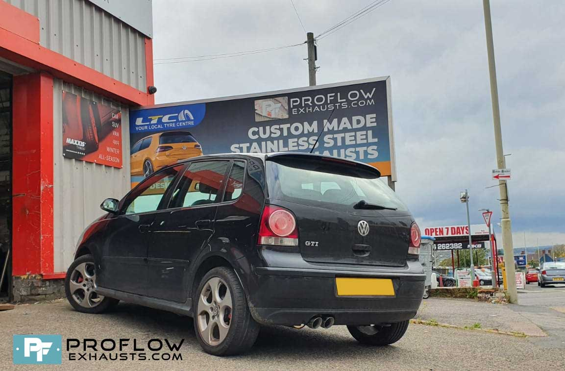 Vw Polo Gti Exhaust Proflow Exhausts Stainless Steel Custom Back Box And Twin Tailpipe For Polo GTi (4)