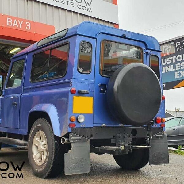 Land Rover Defender Custom Built Exhaust Straight Pipe From Turbo Back (3)