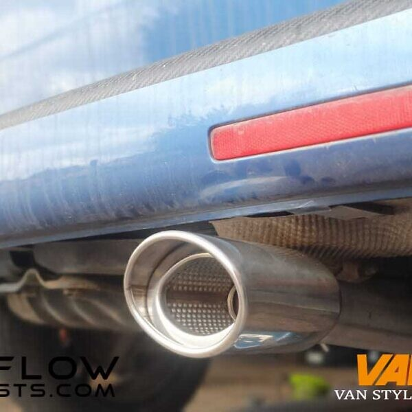 VW Transporter T5 Custom Exhaust Middle and Rear with Single Exit Tailpipe