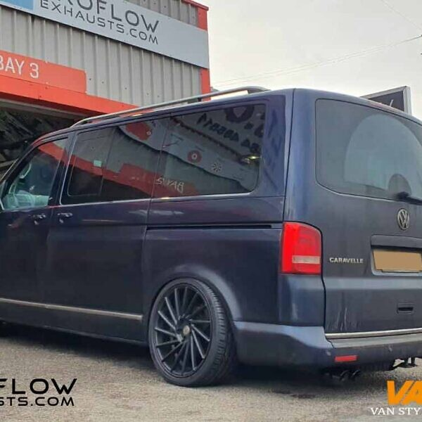 VW T5.1 Transporter Custom Stainless Steel Exhaust with Dual Exit Twin Tailpipes
