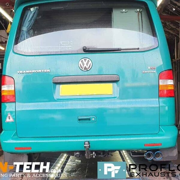 Custom Built Proflow Exhaust for VW Transporter T5 Motion made from stainless steel