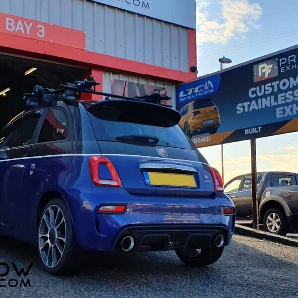 Proflow custom Built Exhaust for Fiat 500 Arbath Back Box with Dual Exit