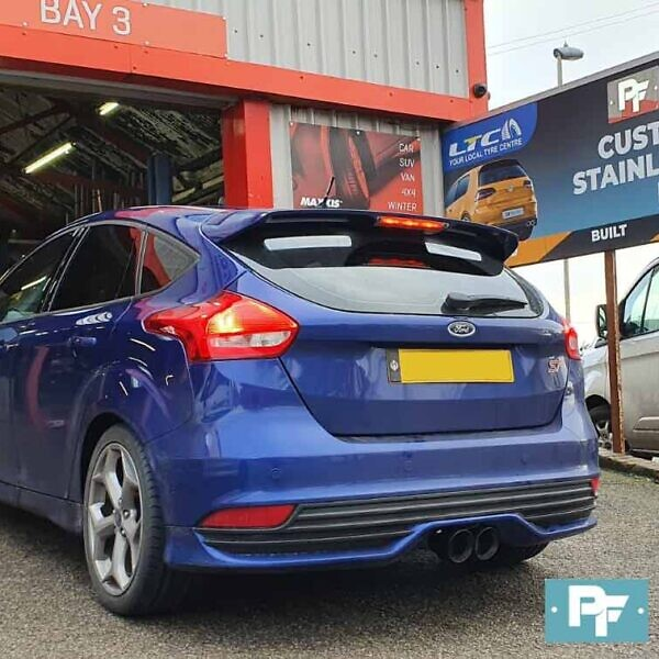 Proflow Exhausts Stainless Steel Back Box Delete and Twin Tailpipe TX 282B for Ford Focus ST