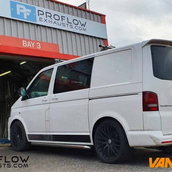 Custom Built Stainless Steel Proflow Exhaust for VW Transporter T5.1