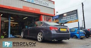 Proflow Exhausts Stainless Steel Back Boxes Dual Exit For Lexus GS430 (5)