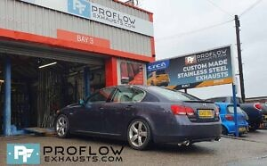 Proflow Exhausts Stainless Steel Back Boxes Dual Exit For Lexus GS430 (6)