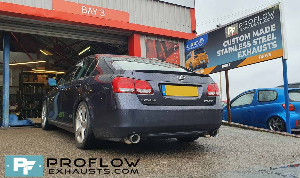 Proflow Exhausts Stainless Steel Back Boxes Dual Exit For Lexus GS430 (8)