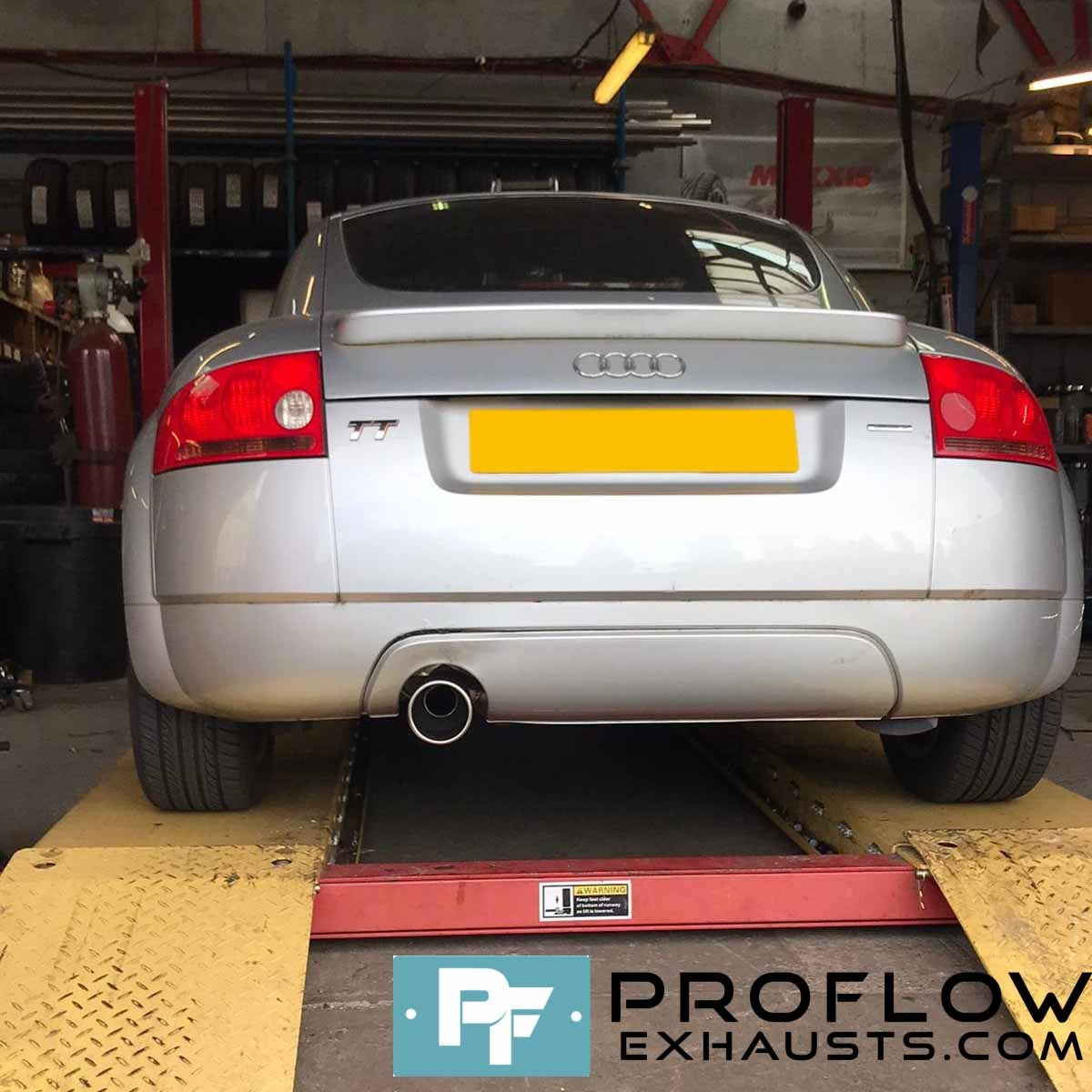 Proflow Custom Exhaust Audi TT with TX074 Tailpipe Made From Stainless Steel