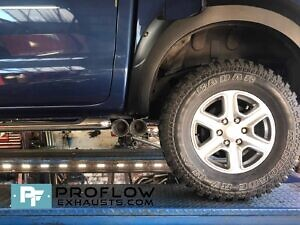 Ford Ranger Custom Exhaust Middle Dual Exit With TX84 B Tailpipes Made From Stainless Steel (1)