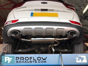 Stainless Steel Back Box with Dual Exit Custom Exhaust for Kia Sportage