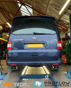 VW Transporter T5 T5.1 Exhaust Proflow Custom Stainless Steel Dual Exit With Dual Exit (6)