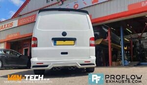 VW Transporter T5 T5.1 Exhaust Proflow Custom Stainless Steel Dual Exit With Dual Exit (8)