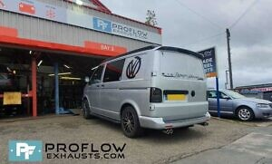 VW Transporter T5 T5.1 Exhaust Proflow Custom Stainless Steel Dual Exit With Dual Exit (9)