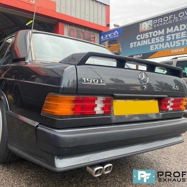 Proflow Custom Built Stainless Steel Exhaust For Mercedes 190E (4)